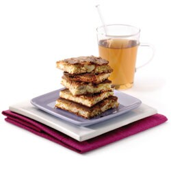 Brownie de chocolate blanco con nueces